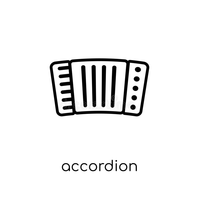 Accordion icon from Music collection. Accordion icon. Trendy modern flat linear vector accordion icon on white background from thin line Music collection stock illustration