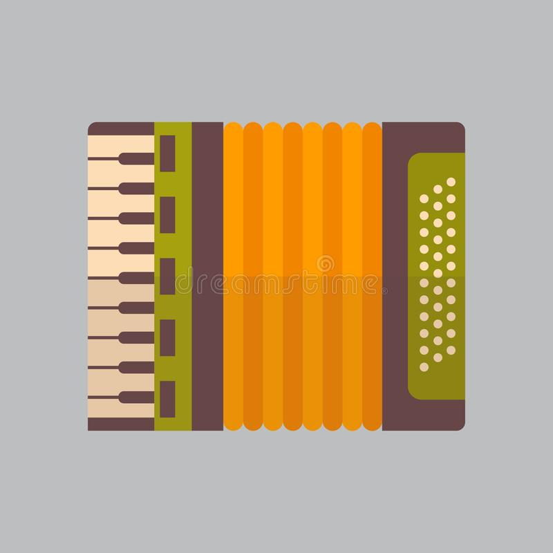 Accordion Icon Oktoberfest Festival Concept. Flat Vector Illustration vector illustration