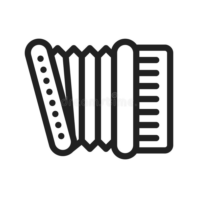 Accordion icon. Accordion, red, music icon vector image. Can also be used for oktoberfest. Suitable for web apps, mobile apps and print media royalty free illustration