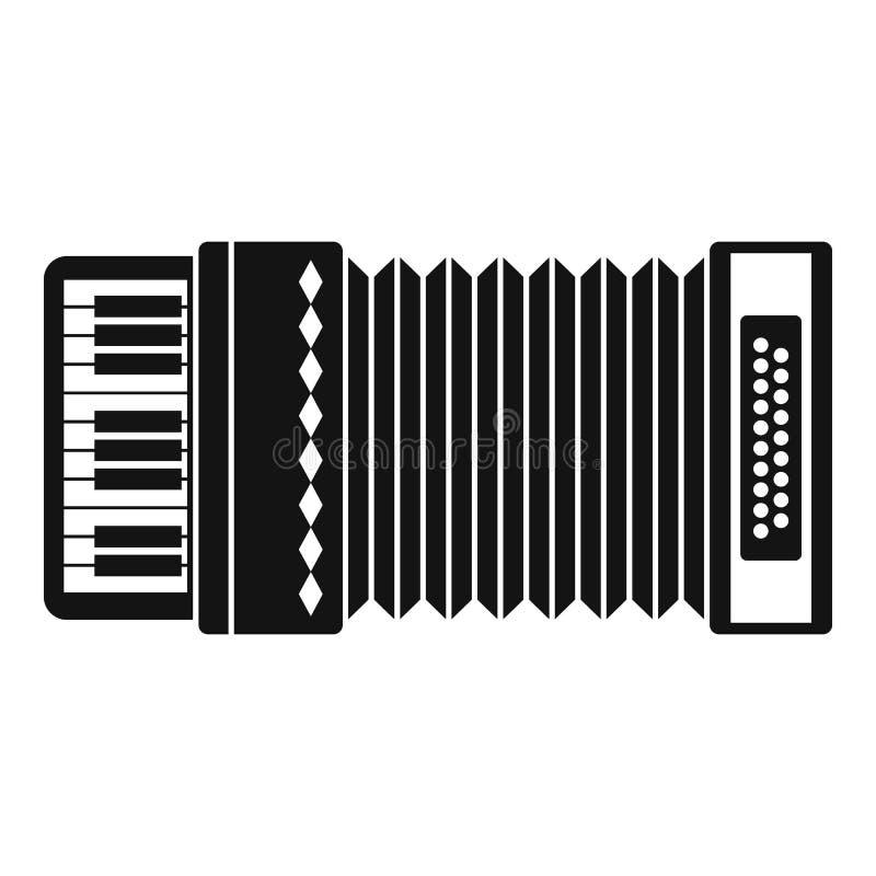 Accordion icon, simple style. Accordion icon. Simple illustration of accordion icon for web stock illustration