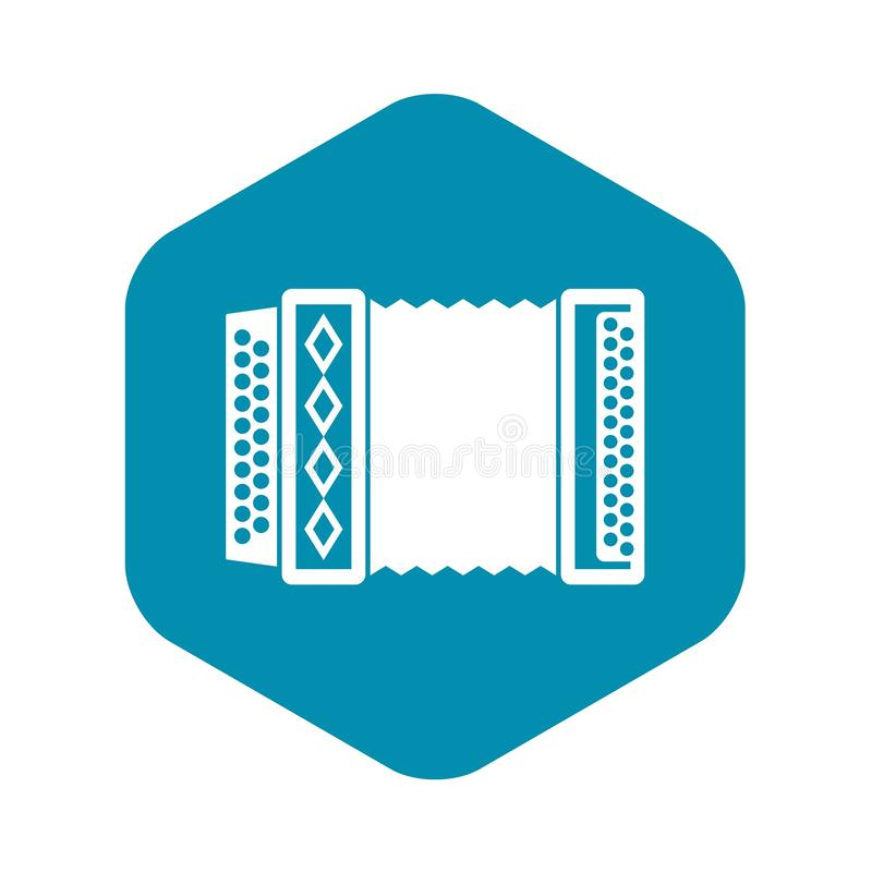 Accordion icon, simple style stock illustration