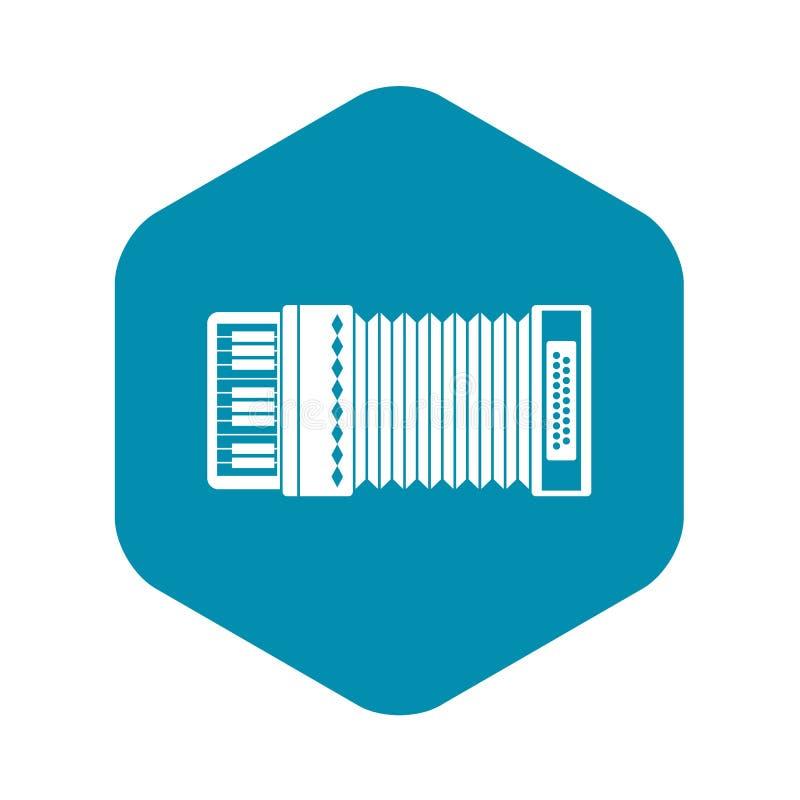Accordion icon, simple style. Accordion icon. Simple illustration of accordion vector icon for web vector illustration