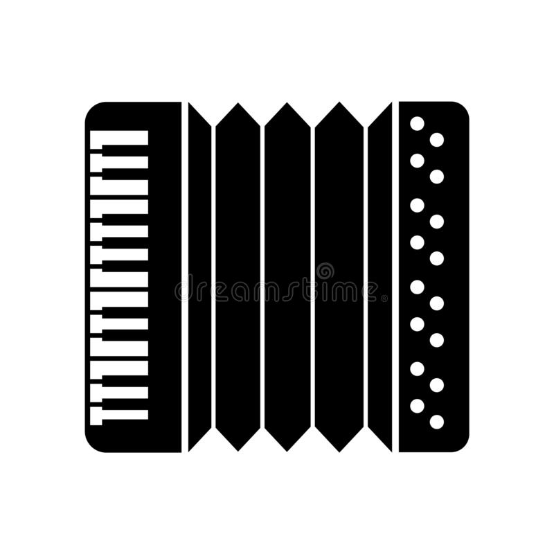 Accordion icon vector isolated on white background, Accordion sign , beer symbols. Accordion icon vector isolated on white background, Accordion transparent sign stock illustration