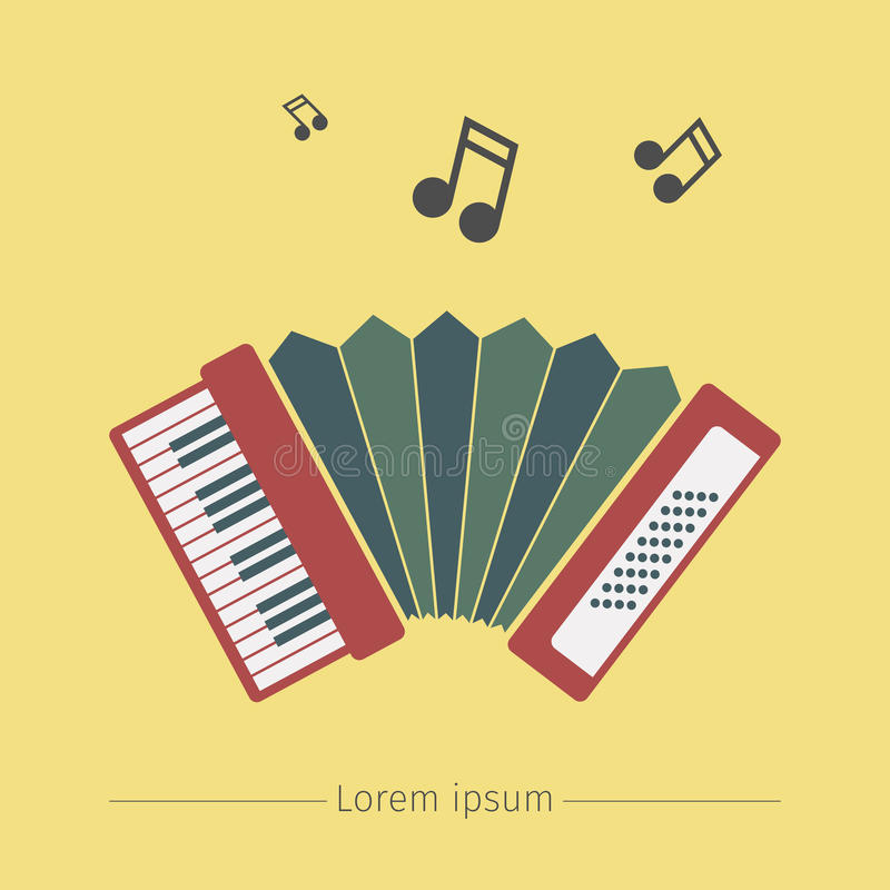 Accordion icon. Vector sign for web graphics vector illustration