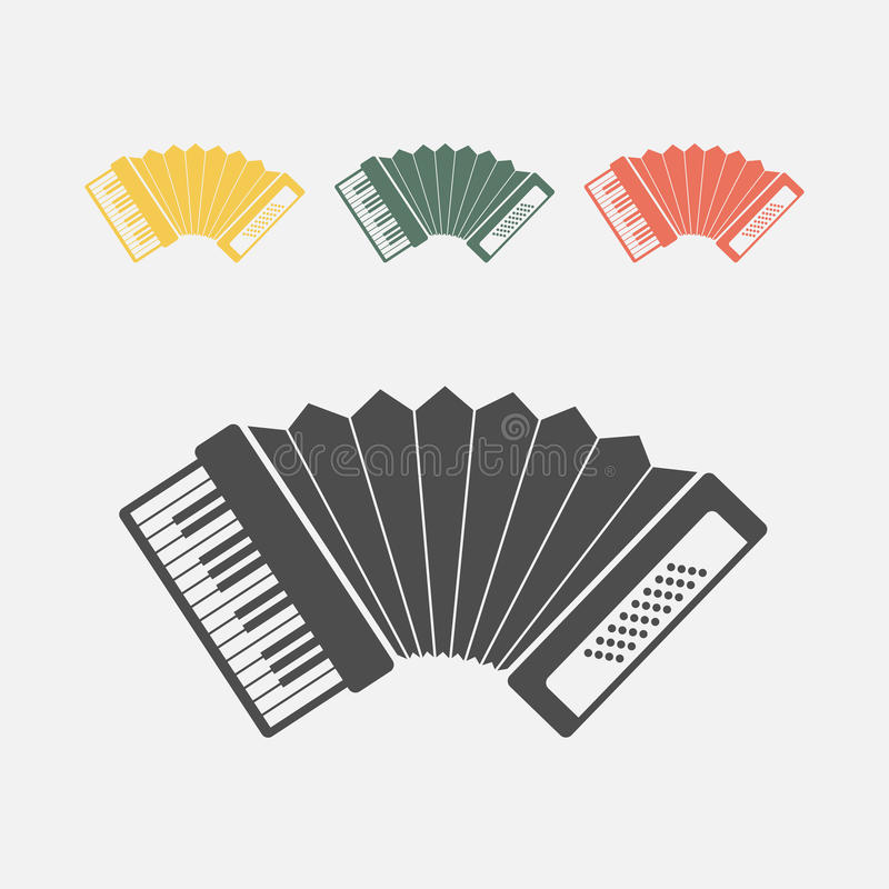 Accordion icon. Vector sign for web graphics royalty free illustration