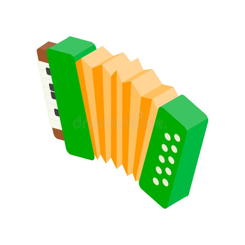 Accordion isometric 3d icon. On a white background royalty free illustration
