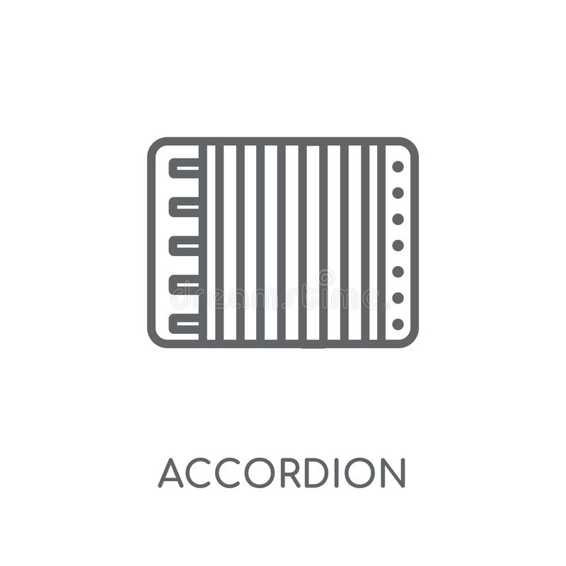 Accordion linear icon. Modern outline Accordion logo concept on. White background from Music collection. Suitable for use on web apps, mobile apps and print vector illustration