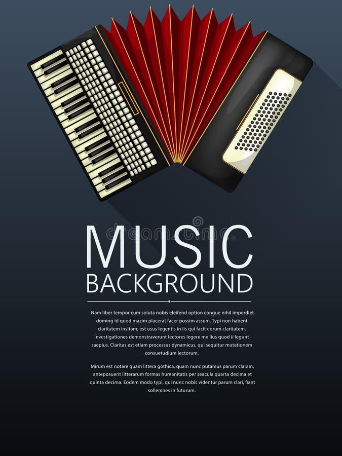 Accordion music background royalty free illustration