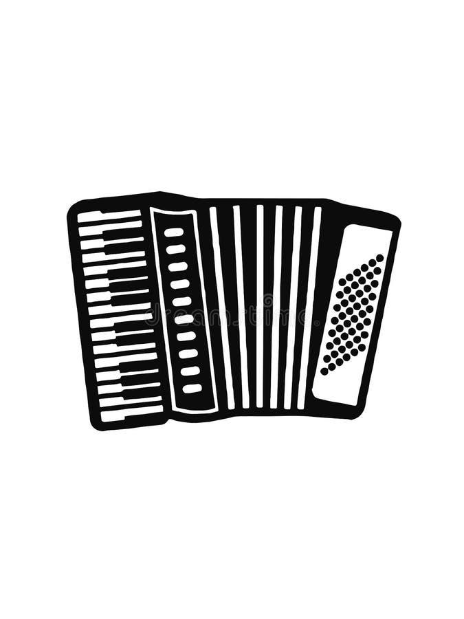 Accordion music instrument icon design vector illustration