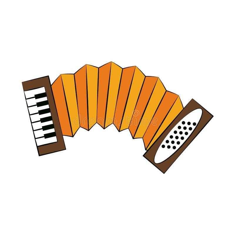 Accordion music instrument. Vector illustration graphic design stock illustration