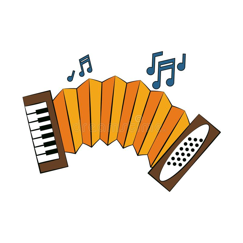 Accordion music instrument. Vector illustration graphic design royalty free illustration