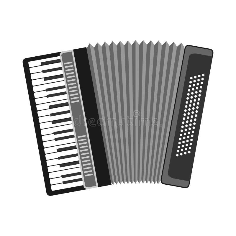 Accordion, musical instrument, accordion icon. Accordion icon. Flat design, illustration vector illustration