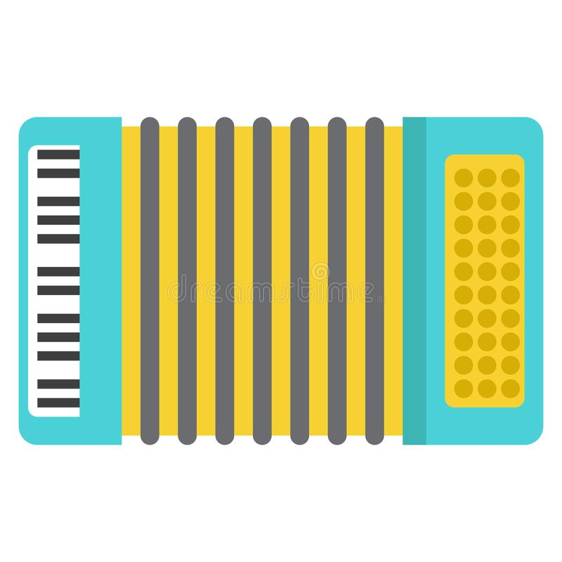 Accordion musical instrument flat icon. Vector sign, colorful pictogram isolated on white. Symbol, logo illustration. Flat style design royalty free illustration
