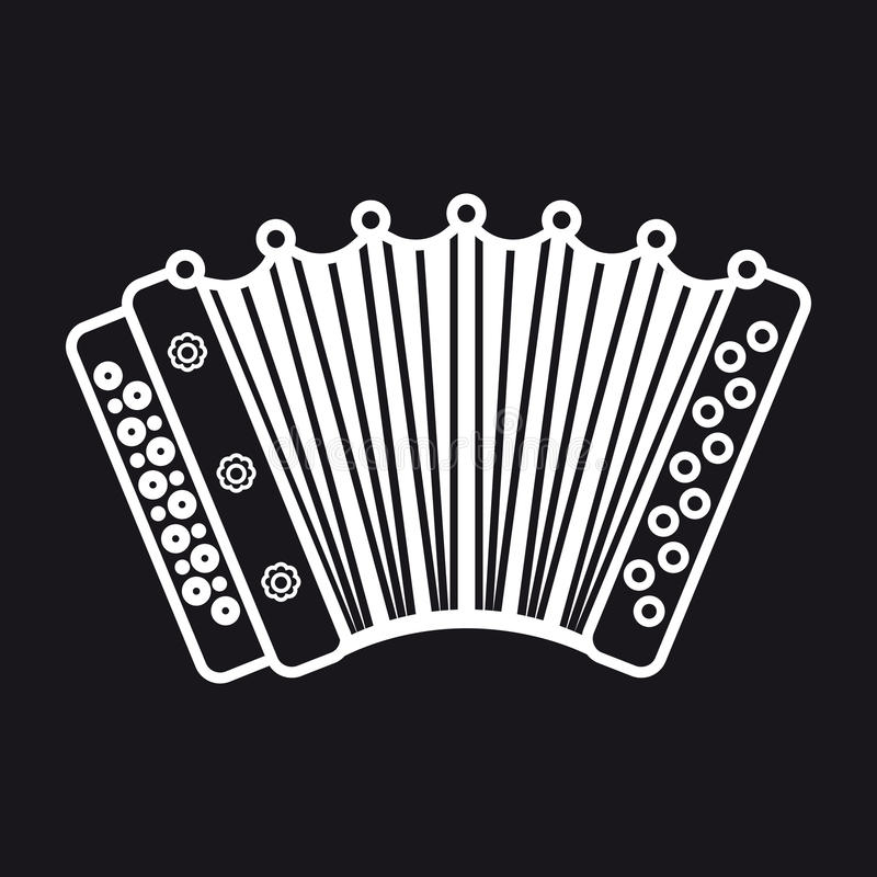 Accordion. Musical instrument for kid. Baby toy. Cartoon style royalty free illustration