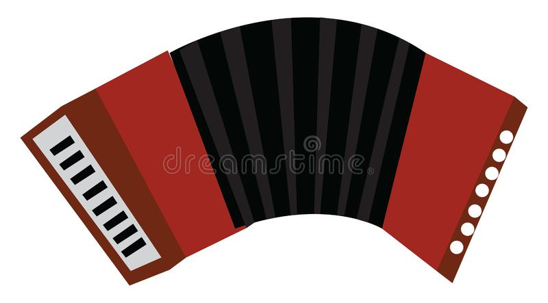 A squeezebox musical instrument called accordion vector color drawing or illustration. Accordion a musical instrument vector or color illustration royalty free illustration