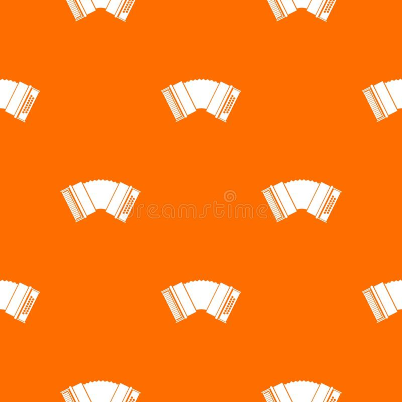 Accordion pattern seamless. Accordion pattern repeat seamless in orange color for any design. Vector geometric illustration royalty free illustration