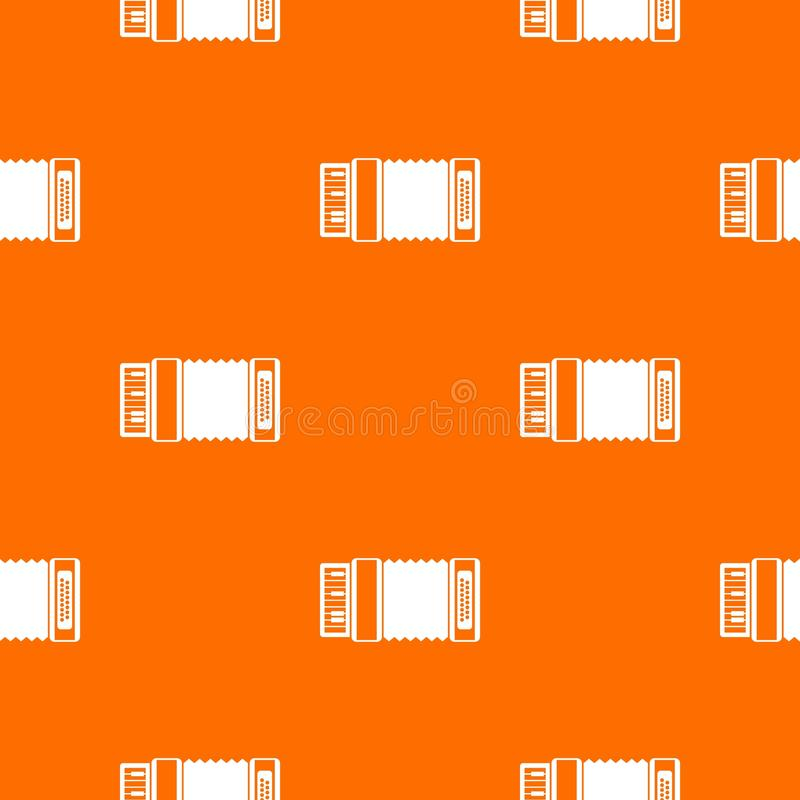 Accordion pattern seamless. Accordion pattern repeat seamless in orange color for any design. Vector geometric illustration stock illustration