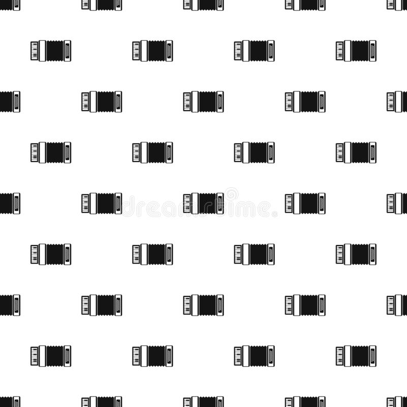 Accordion pattern, simple style. Accordion pattern. Simple illustration of accordion pattern for web vector illustration