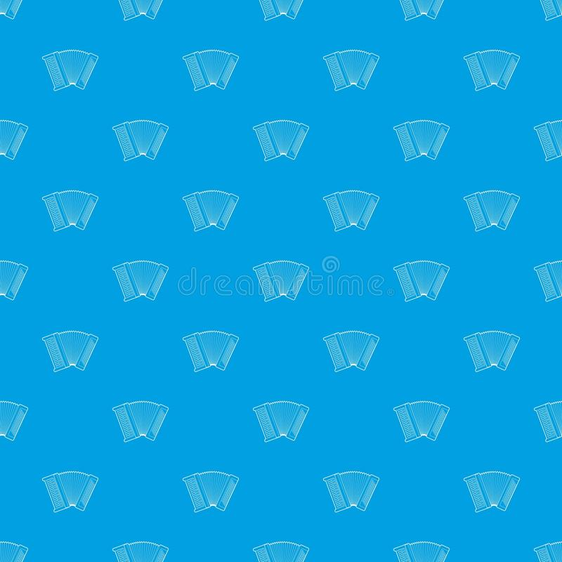 Accordion pattern vector seamless blue. Repeat for any use vector illustration