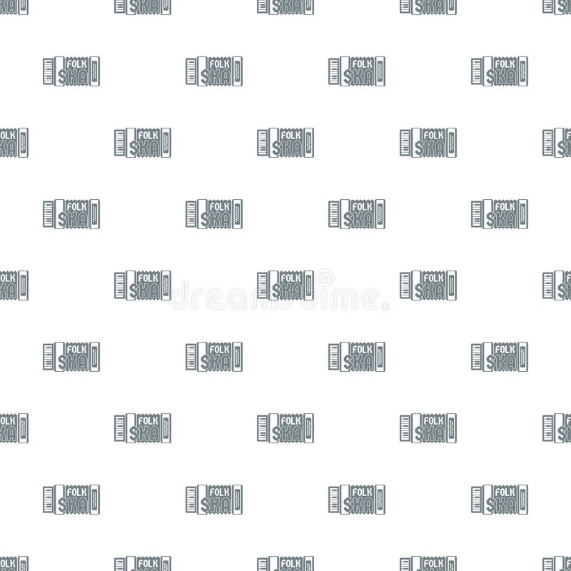 Accordion pattern vector seamless. Repeat for any web design stock illustration
