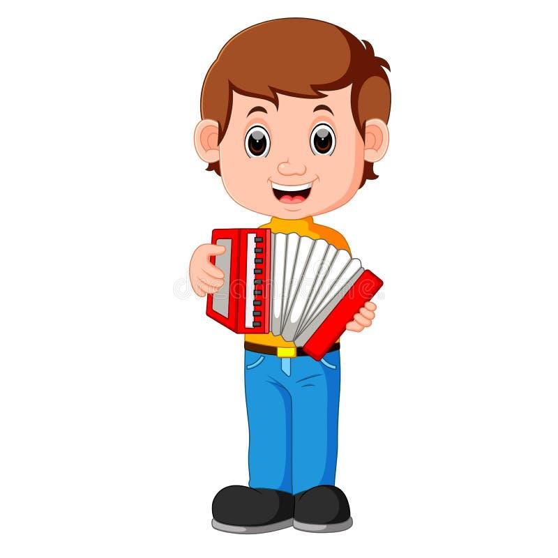 Accordion piano player. Illustration of Accordion piano player vector illustration