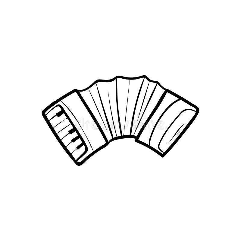 Accordion vector doodle icon vector. Hand drawing royalty free illustration