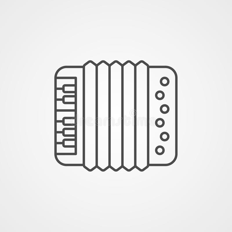 Accordion vector icon sign symbol. Accordion vector icon. filled flat sign for mobile concept and web design. Music instrument simple solid icon. Symbol, logo royalty free illustration