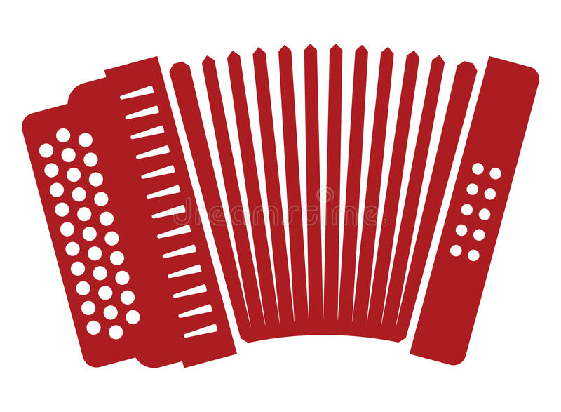 Accordion. Vector illustration of the Accordion with buttons royalty free illustration