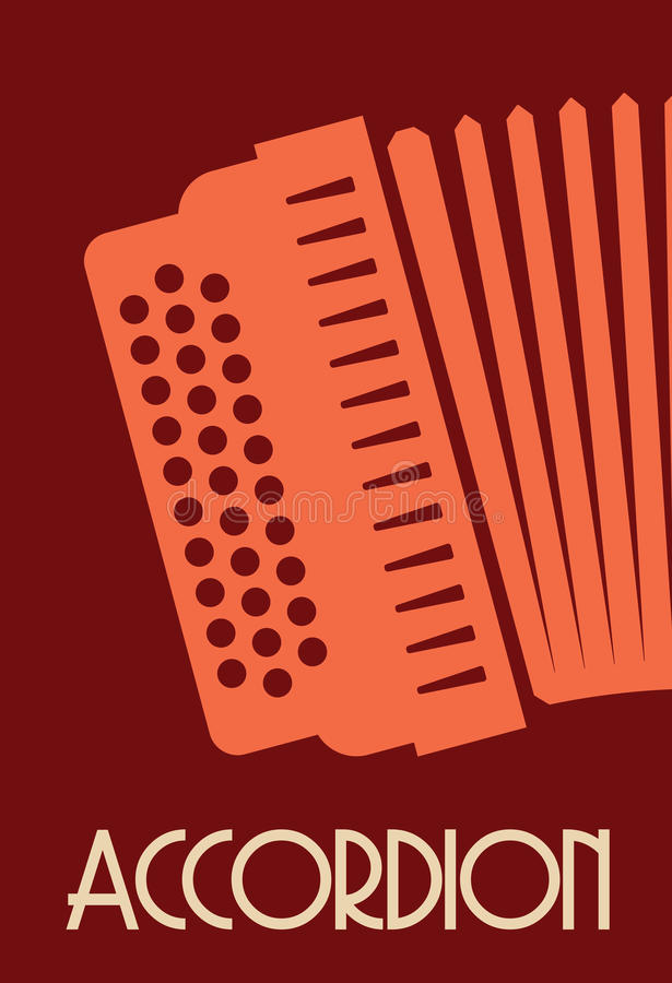 Accordion. Vector illustrations of the Accordion stock illustration
