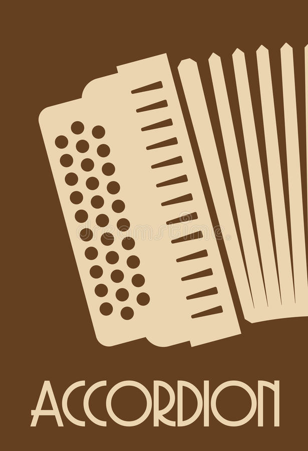 Accordion. Vector illustrations of the Accordion royalty free illustration