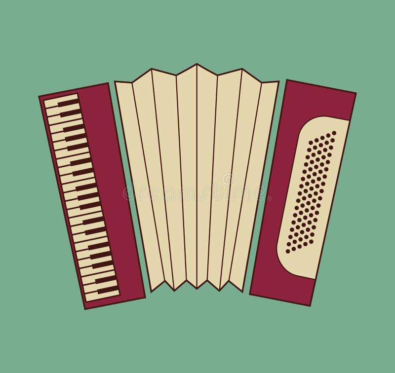 Accordion. Vector illustrations of the Accordion stock illustration