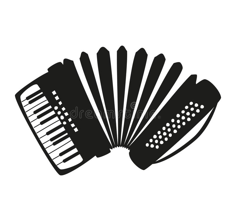 Accordion on the white background. Vector illustration vector illustration