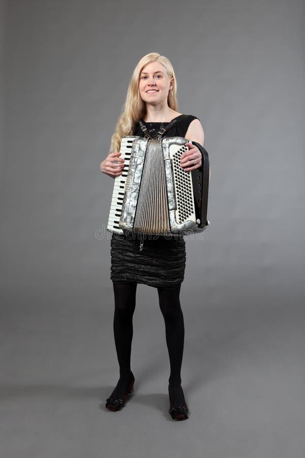 accordionist красивейший стоковые фото