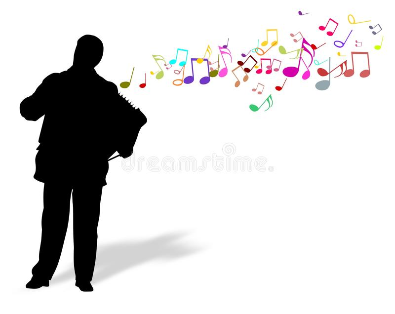 Accordionist royalty free stock images