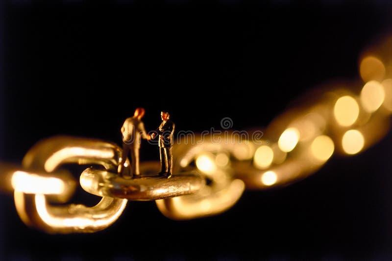 Accordo Chain immagine stock libera da diritti