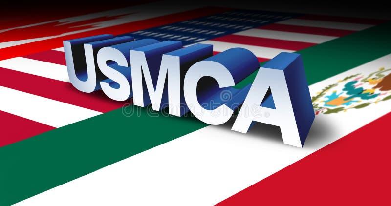Accordo commerciale di USMCA illustrazione vettoriale