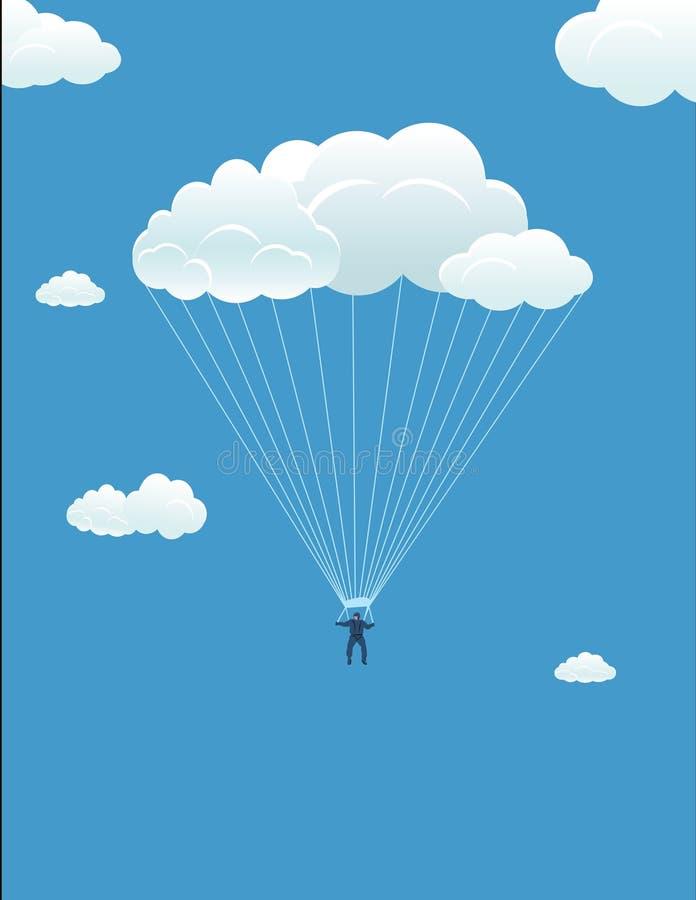 In accordo con il cielo illustrazione vettoriale