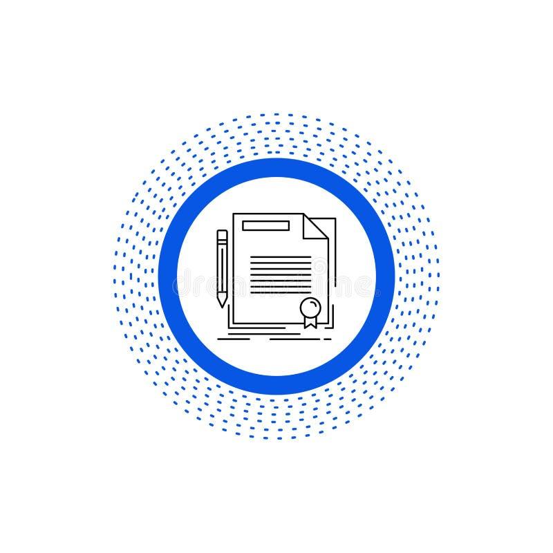 accordo, contratto, affare, documento, linea icona della carta Illustrazione isolata vettore royalty illustrazione gratis