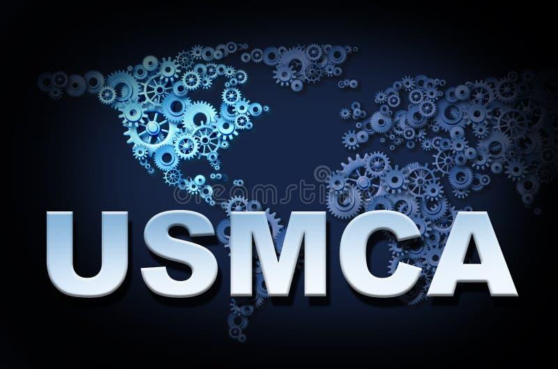 Accordo degli Stati Uniti Messico Canada illustrazione di stock