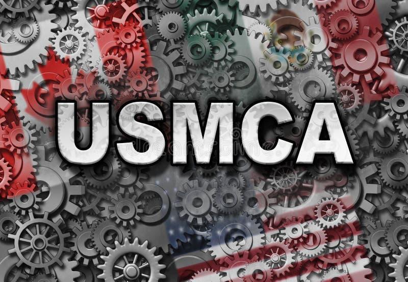 Accordo di affari di USMCA royalty illustrazione gratis
