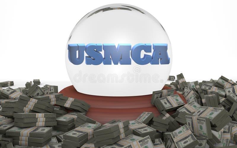 Accordo di libero commercio di USMCA Stati Uniti Messico Canada royalty illustrazione gratis