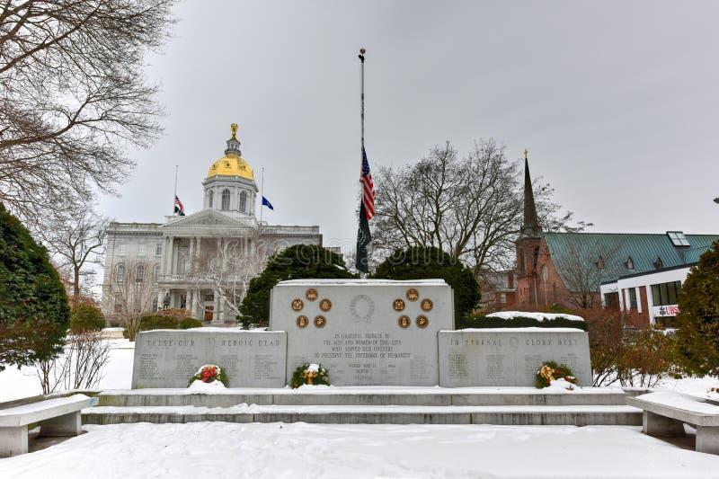 Accordo, memoriale di guerra di New Hampshire fotografia stock