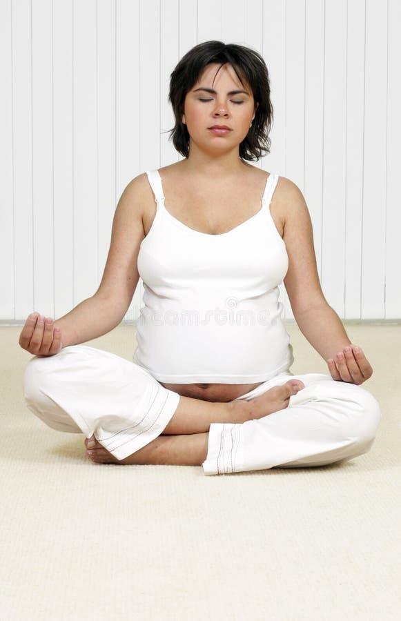 Accouchement de méditation, holistique ou de Hypno image stock