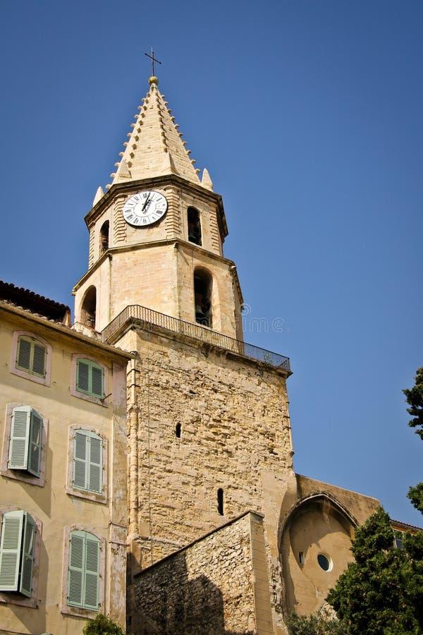 Accoules钟楼在马赛 库存照片