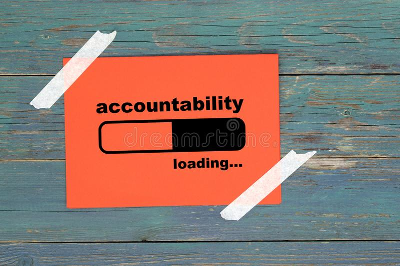 Accountability loading on paper. Accountability loading word on paper vector illustration