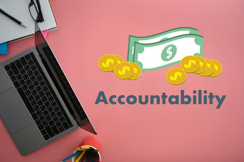 Accountability Savings Account Money Global Finance calculate the numbers royalty free stock photography