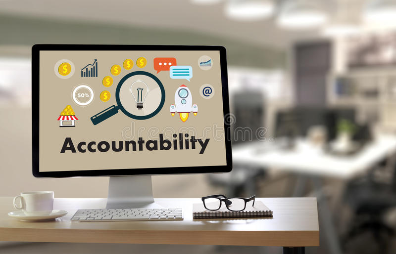 Accountability Savings Account Money Global Finance calculate t. He numbers royalty free illustration