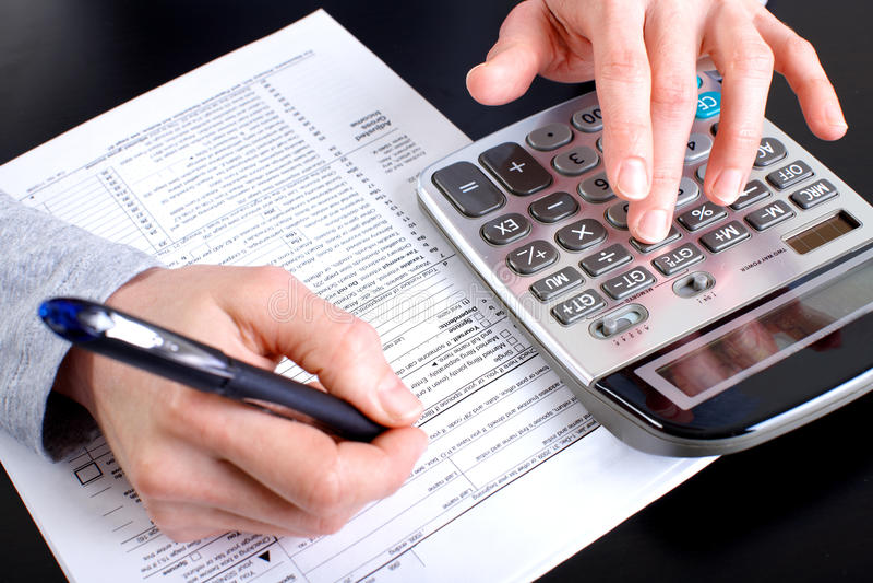 Accountant stock afbeelding