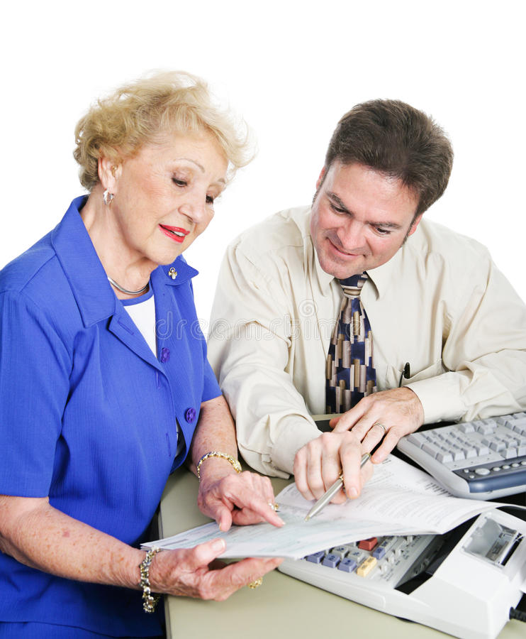 Accountant With Client Stock Photo