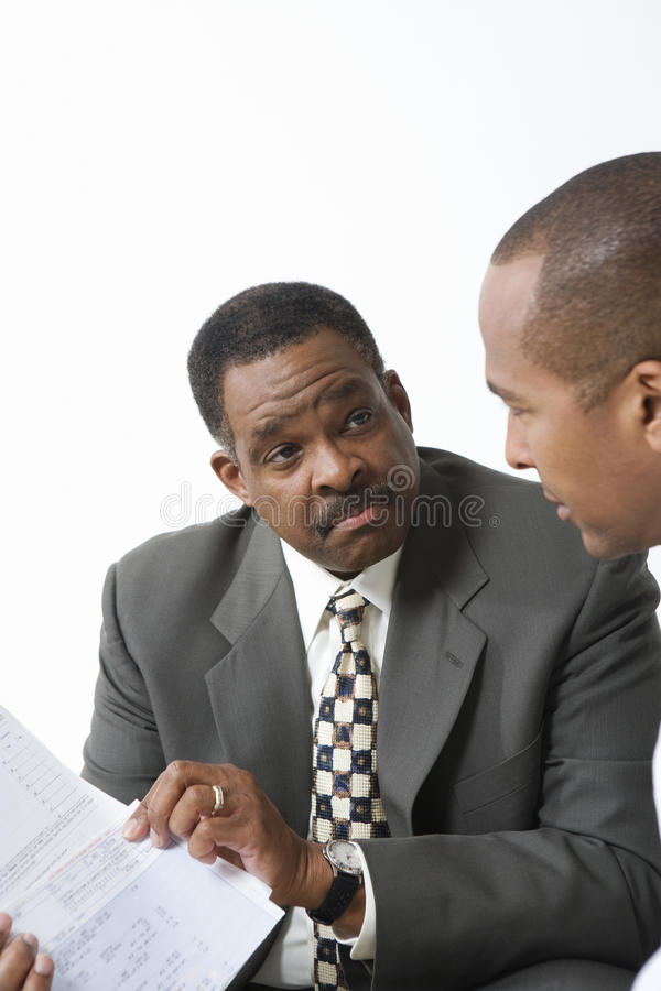 Accountant And Client Going Over Bills Royalty Free Stock Photo